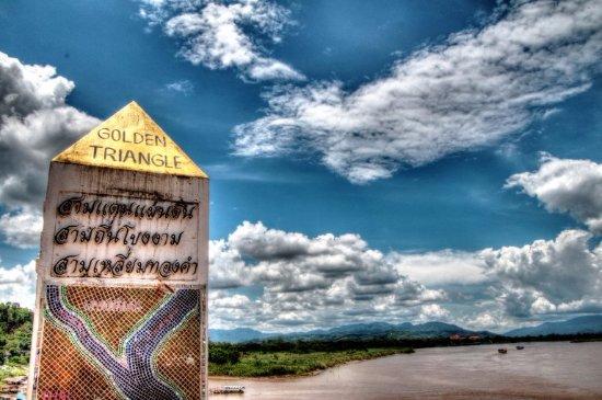 Chiang Saen, Thaïlande : Golden Triangle Topography