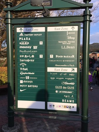 Gotemba, Japão: Outlet Signage