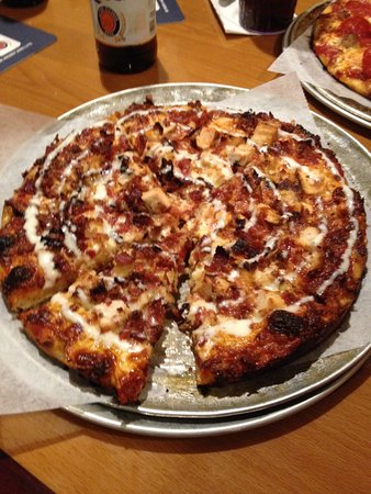 Weymouth, MA: Chicken bacon ranch pizza. Awesome!