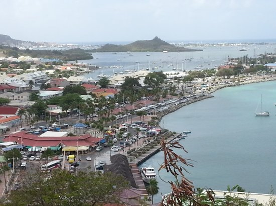 View of Marigot from Fort Louis