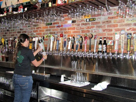 World of Beer: peek at some of the taps