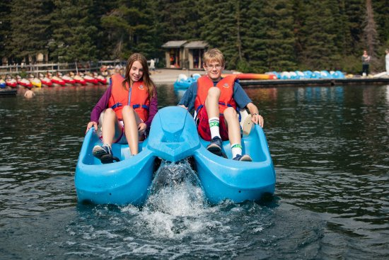 Cameron Lake Boat Rentals Pedal Boats Are A Favourite For Kids