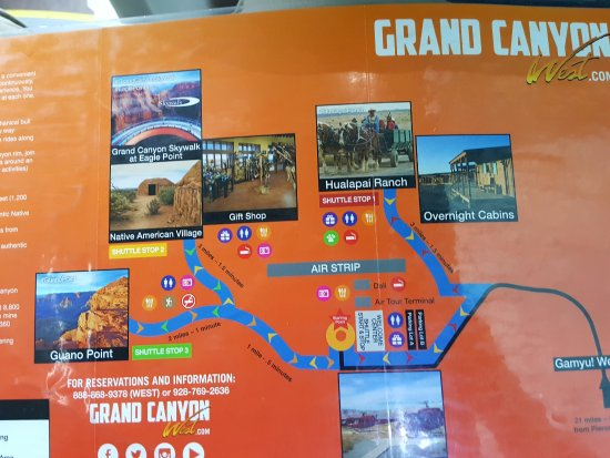 Map Of The West Rim Picture Of Grand Canyon West Grand