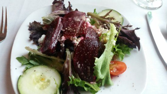 The Brentwood Restaurant & Wine Bistro: goat cheese salad