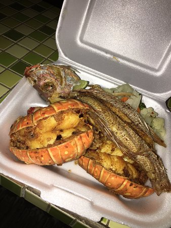 Andros: Fried Snapper and Grilled Lobster