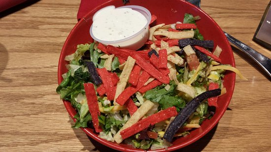 Creve Coeur, MO: Regular South of the border salad with ranch dressing. (I opted out of Chipotle ranch -too spicy