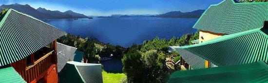 Apart Hotel Cabanas Balcon al Lago: Vista panoramica al lago Nahuel Huapi