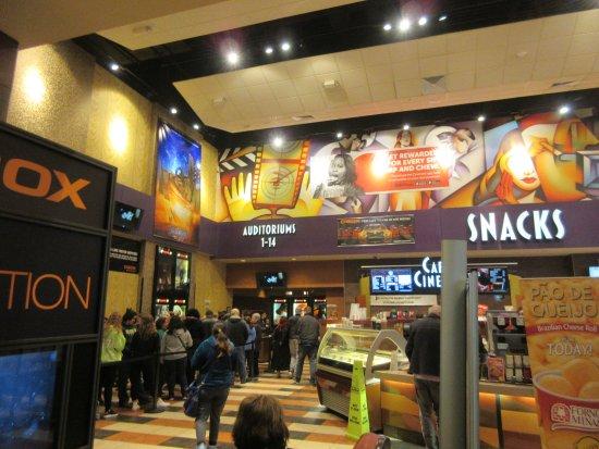 Lobby of Cinemark, Joliet Mall