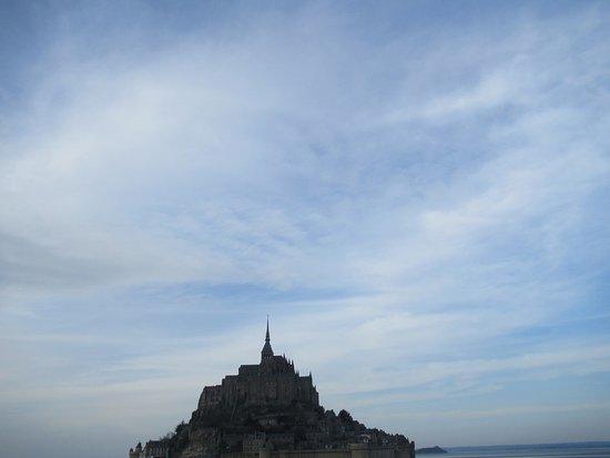 Mont-Saint-Michel, Frankrig: Foto para una postal del Monte Saint-Michel.