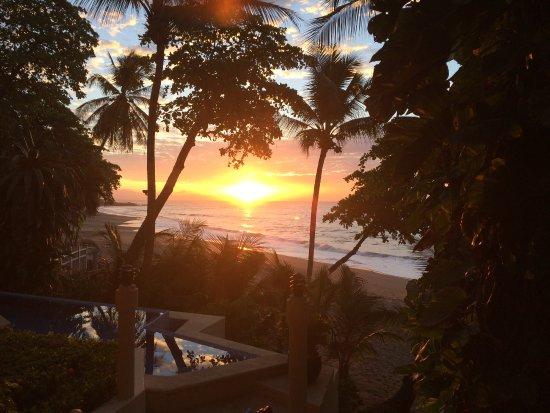 Tambor, Costa Rica: Sunset from the patio