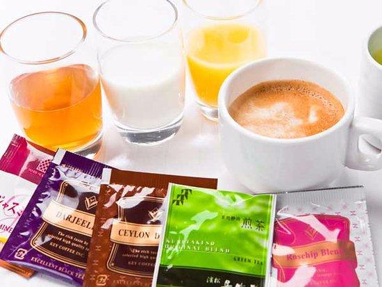 Kosai, Japonya: 朝食時にうれしい!お飲み物も充実しております♪