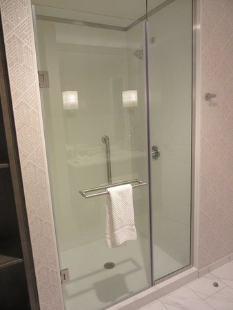 Evansville, IN: King Room shower