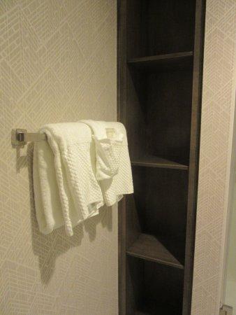 Evansville, IN: King Room bathroom storage space