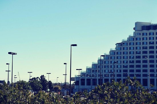 A view of Crown perth from Burswood park