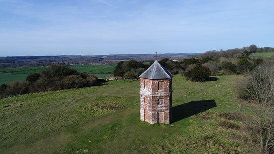 Alderbury, UK: A View North West from Pepperbox Hill Salisbury