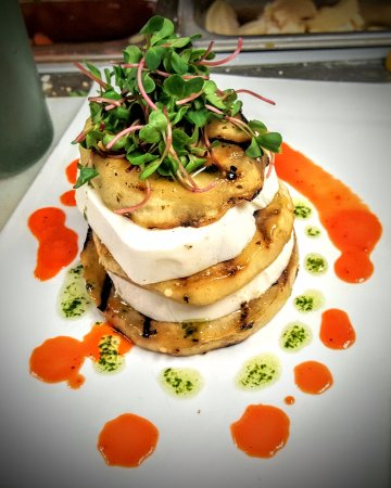 Lavallette, NJ: eggplant and mozz tower