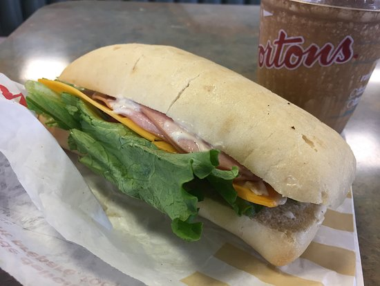 Tim Hortons: Ham and Cheddar and Ice Cap