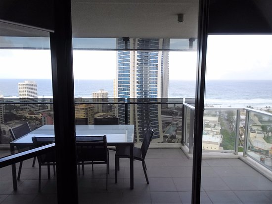 View of Balcony from Main Bedroom