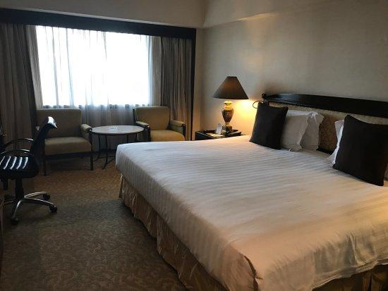 โรงแรมดุสิตธานี มะนิลา: デラックス・キング、西側向きの部屋でした