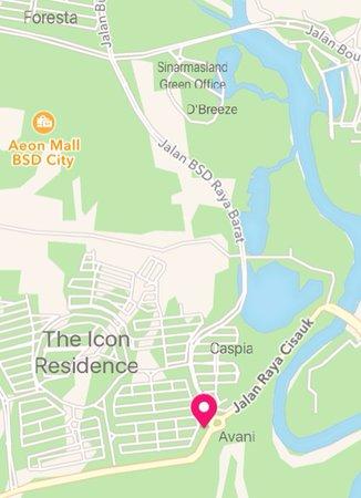Map Picture of La Vera Pizza BSD Tangerang TripAdvisor