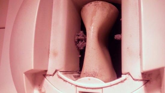 Prevessin Moens, Frankrig: Mancanza di pulizia. Ventola del bagno.