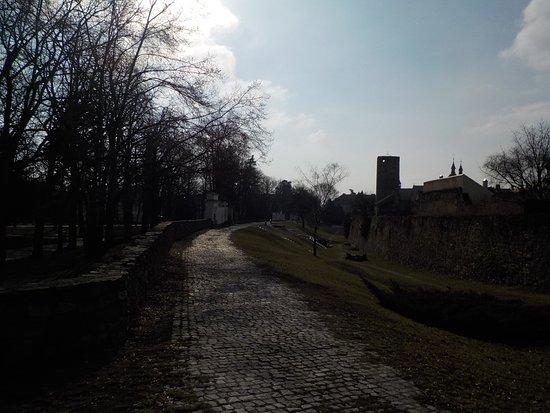 Znojmo fortifications: Burgmauer und Burggraben