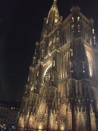 Cathedrale Notre Dame de Strasbourg: Liebfrauenmünster_bei Nacht