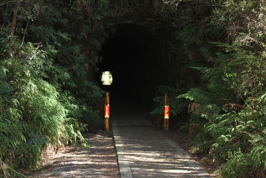 Zeehan, Australia: look at the entrance to the tunnel