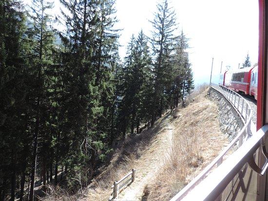 un tratto del percorso tirano-st.moritz