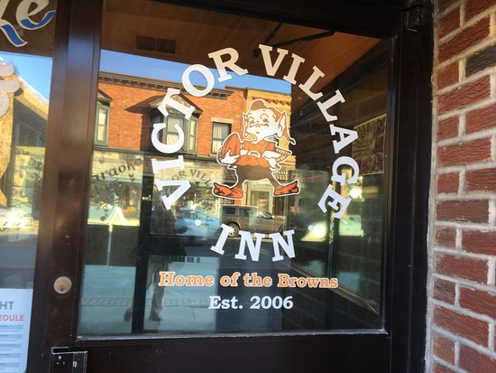 Victor Village Inn - sign on front door