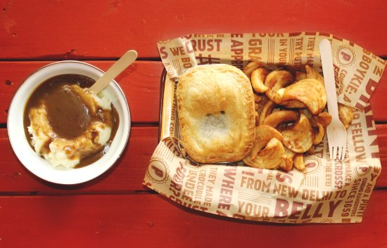 Athens, GA: Pie with Mash and Gravy and famous Sidewinder Fries