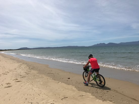 Swansea, Australia: Sand was a bit too moist to ride on the day.