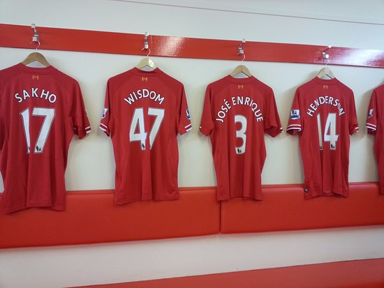 77557bc25 Changing Room - Picture of Anfield Stadium