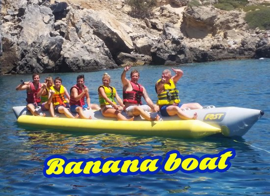 Banana Boat and Safari Banana with Rodos Water Sports Action
