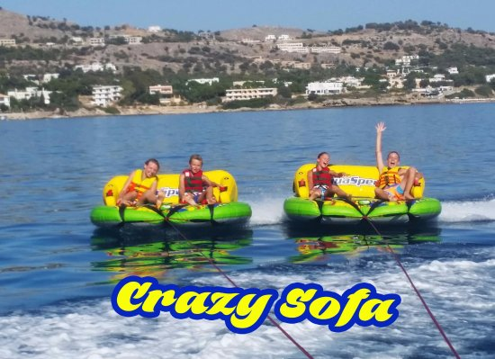 Crazy sofa for any age at Rodos Water Sports Action