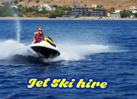 Brand new jet skis available for hire at Rodos Water Sports Action