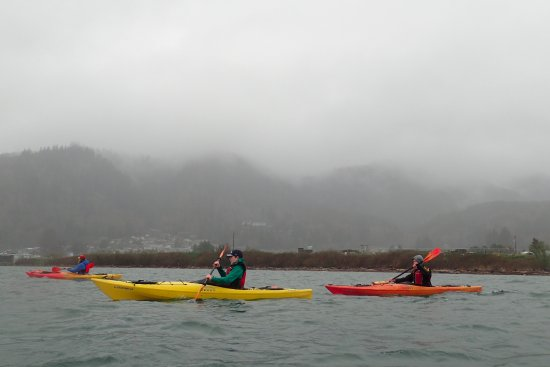 Tillamook, OR: Paddling back to our extraction point after the Miami River tour.