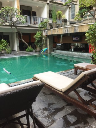 Champlung Mas Hotel: This was a pool access room at Champlung Mas, right next to reception area. Unfortunately it was