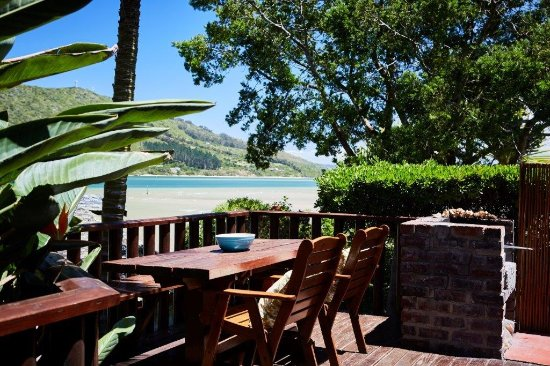 Under Milkwood Chalets: View from patio with BBQ facilities