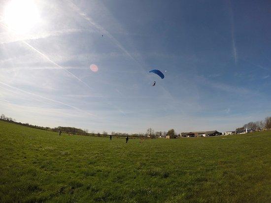 Lancaster, UK: Coming in for landing.