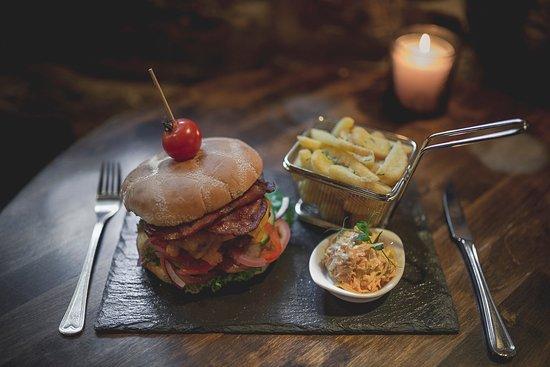 Kongsberg, นอร์เวย์: Hjemmelaget burger