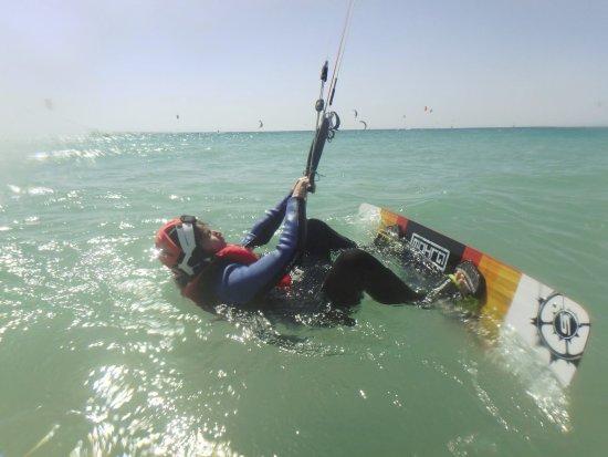 Tarifa Max Kitesurf School: Kitesurfing start position