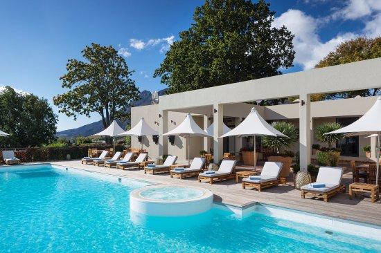Delaire Graff Estate - Lodges and Spa: Delaire Graff Lodges & Spa terrace and pool