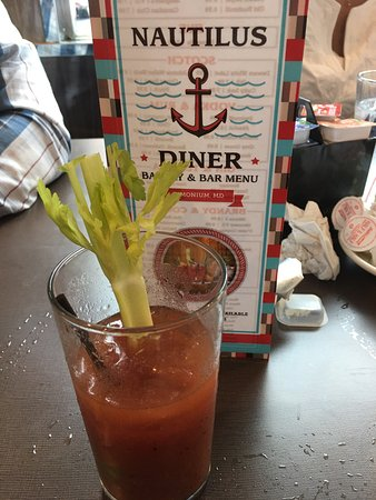 Timonium, MD: This diner was awesome! Bloody Mary to start off our experience.