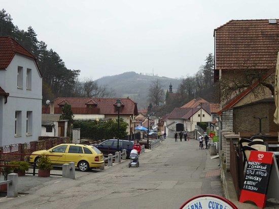 Karlstejn, Czech Republic: The village raod
