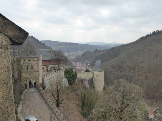 Karlstejn, Czech Republic: A view from the castle