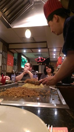 The best hibachi chef at Sakura's in Monaca Pa