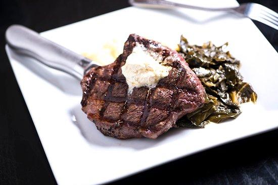 Irmo, SC: Certified Angus Beef brand sirloin steak with garlic butter & collard greens