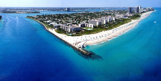 Ocean Helicopters Fly Over Singer Island And The Beautiful Blue Waters On Tour