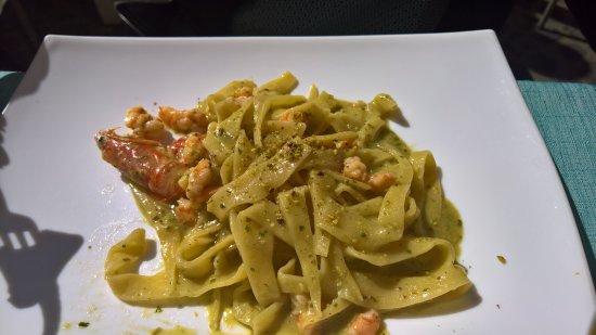 Restaurant Al Centro: maltagliati con pistacchi